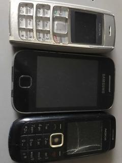Celulares Com Defeito - Nokia E Samsung
