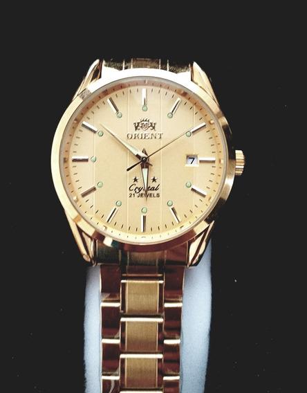 Orient Ouro Automatico 21 Jewels Cristal 3 Estrelas C/caixa