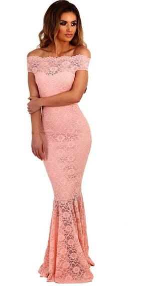 Vestido De Fiesta, Elegante, Corte Sirena