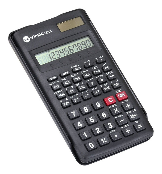 Calculadora Científica 10 Dígitos Com 56 Funções Vinik