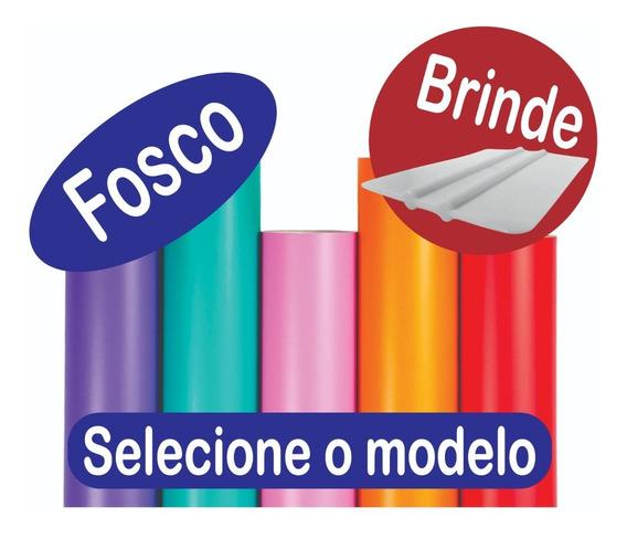 Papel Contact Adesivo Fosco Lavável Colorido 10m X 45cm