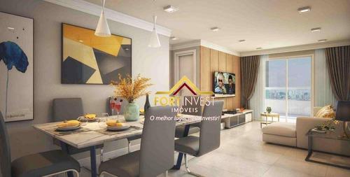 Apartamento Com 2 Dormitórios À Venda, 91 M² Por R$ 595.929,60 - Caiçara - Praia Grande/sp - Ap0878