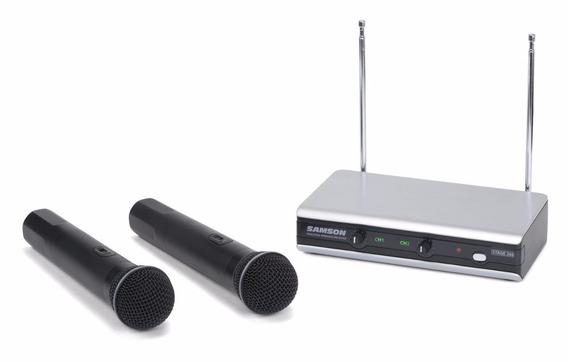 Sistema Inalambrico De 2 Microfonos Samson Stage V266 Handhe