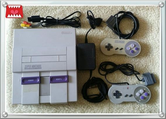 Console Super Nintendo Snes Fat Completo + 5 Jogos