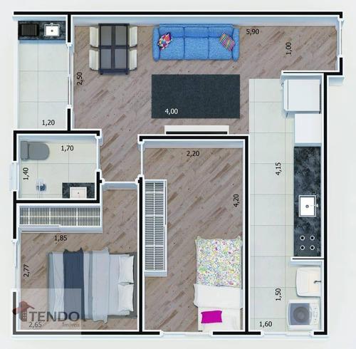 Imagem 1 de 15 de Imob03 - Apartamento 53 M² - Venda - 2 Dormitórios - 1 Suíte - Jardim Haydee - Mauá/sp - Ap2314