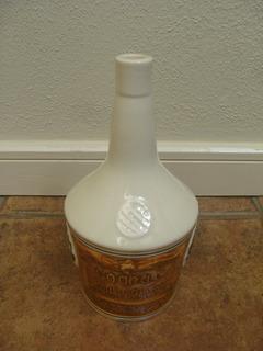 Antigua Botella Coñac Cerámica Espejo Agronomía U. De Chile