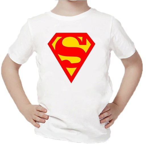 Playera Para Niños Estampado De Superman