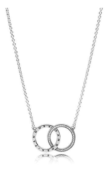 Collar Original Pandora Circulos Plata 925