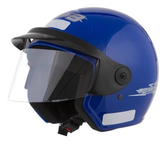 Capacete para moto aberto Pro Tork Liberty Three azul M