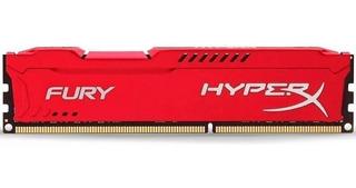 Memoria Ram Dimm Kingston Hyperx Fury Ddr3 4g 1866 Mhz Rojo