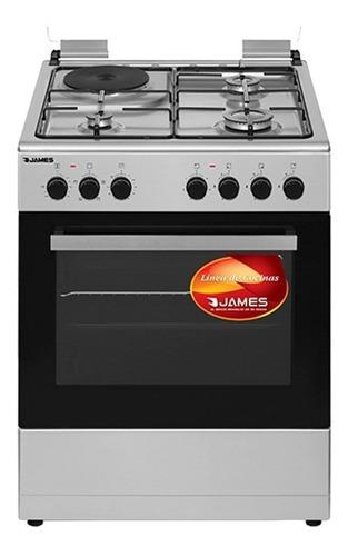 Cocinas Combinadas James C221 Inox 60cm Con Disco Europea