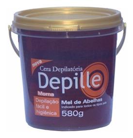 Cera Depille Mel Cera Quente Hidrossolúvel Depilatória 580g