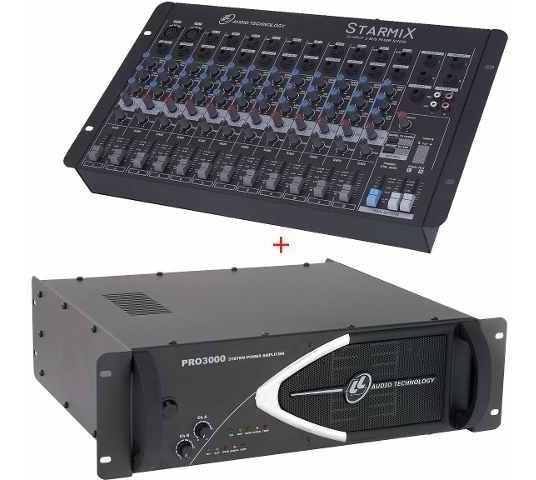 Kit Mesa 12 Canais + Potência Pro3000 750 Watts Rms Nca