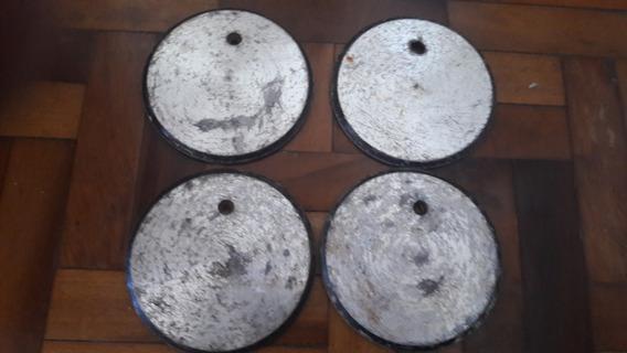 Calota Centro Roda Metal Liga Leve Antiga Aranha Pingo Etc