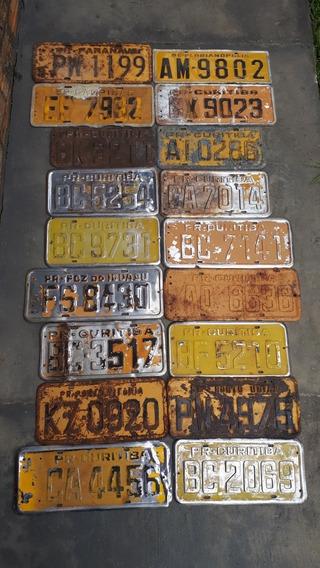 18 Placas Amarelas De Carro Antigo Valor Para Todas