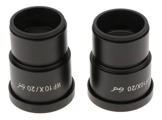 Lente Par Ocular Microscópio Estéreo Wf 10x / 20