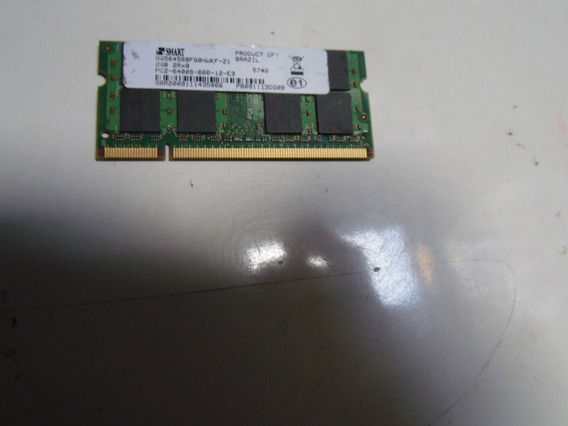 Memória Para Note Smart Ddr2 2gb 800mhz Sg564568fg8nwkf-z1