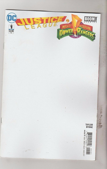 Justice League Power Rangers Blank Cover #1 (2017) Dc / Boom