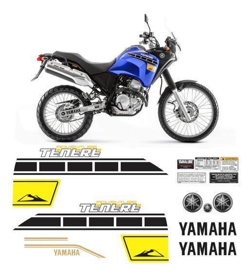 Kit Completo Adesivo Yamaha Tenere 250 2015 Azul Tnr013 Fgc