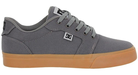 Tênis Dc Shoes Anvil Tx La Grey Black Grey - Cinza