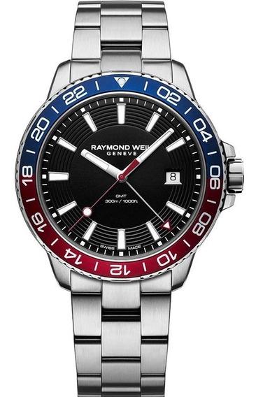 Relógio Raymond Weil 8280-st3-20001 Tango 42mm Gmt Quartz