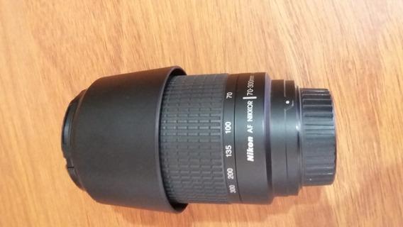 Lente Nikon Af Nikkor 70-300mm 4-5.6g Com Parasol