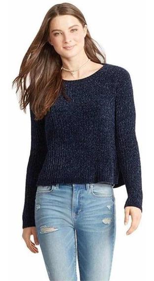 Sweater Aeropostale Terciopelo Azul Marino Xl Envió Gratis