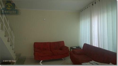 Sobrado Com 3 Dormitórios À Venda, 142 M² Por R$ 489.000,00 - Jardim Paraíso - Santo André/sp - So0851