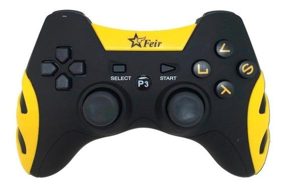 Controle joystick Feir FR-217 amarelo