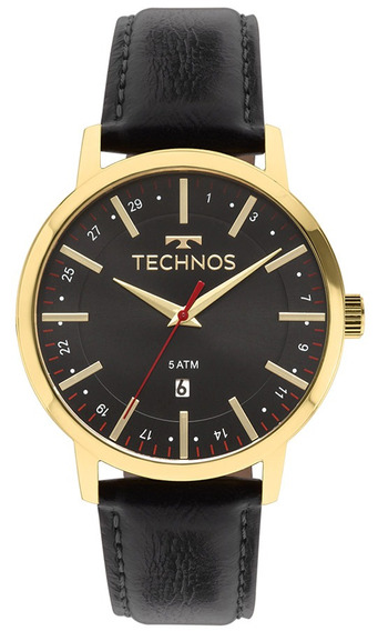 Relógio Technos Masculino Classic 2115mmi/4p Dourado Couro