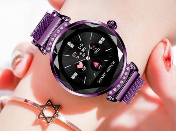 Relógio Luxo Femenino Nchelor H2 3d Strass Coração Digital