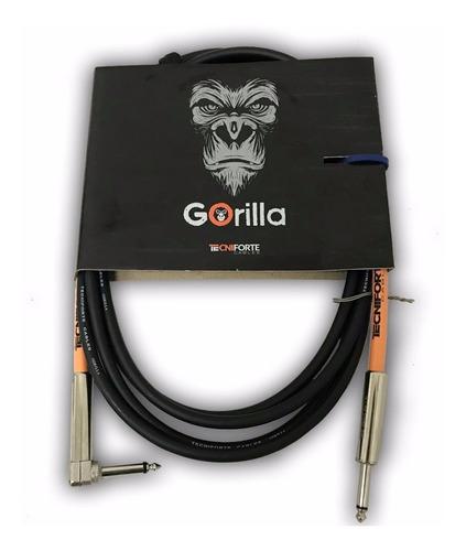 Imagem 1 de 5 de Cabo Tecniforte Gorilla Go10lni Para Instrumento 10ft(3.05m)
