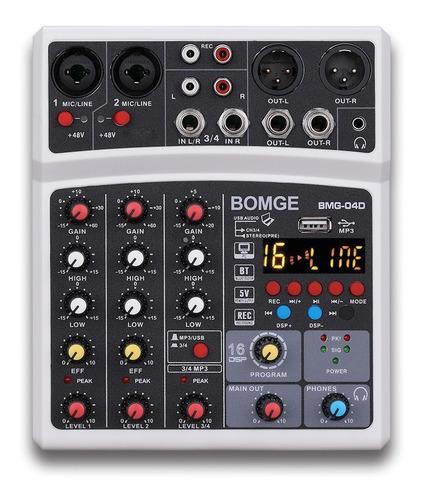 Imagen 1 de 9 de Bomge 16echo-dsp - Mezclador De Audio Con Usb Bluetooth Phan