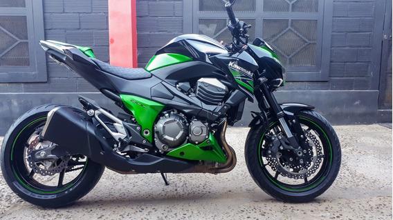 Kawasaki Z800 2014 Negro-verde