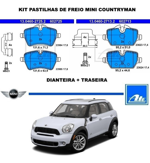 Kit Pastilha Freio Mini Countryman Original Dt + Tr