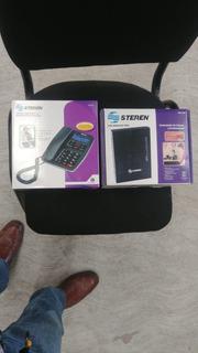 Conmutador Steren 3 Lineas Y 8 Extensiones Y Telefono
