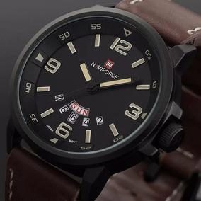 Relógio Naviforce Original Modelo 9028-1 Marrom Militar