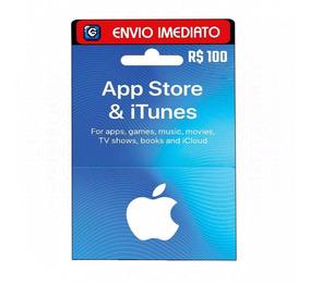 Cartão Apple Brasil Store R$ 100 Reais - Itunes Gift Card