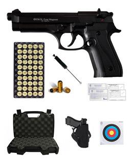 Pistola Traumática Fogueo Ekol® Beretta 92 Bolas Goma 9mm