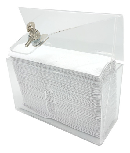 Imagen 1 de 5 de Dispensador De Papel Para Baño - Papel Manos - Acrílico