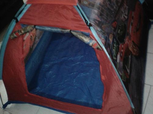 Carpa Tienda De Camping Acampar Para Niños Cars Disney Pixar