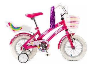 Bicicleta Olmo Rod 12 Nenas Tiny Pets-c/rueditas Works!!