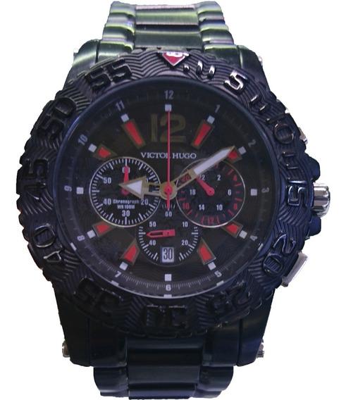 Relógio Victor Hugo Mostrador Preto - Vh10072gsb/02m