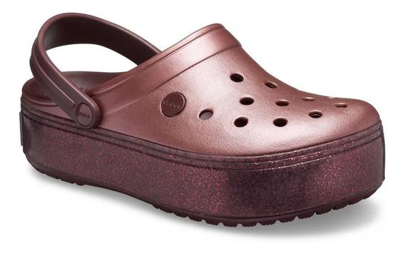 Crocs Crocband Platform Mujer Metallic -