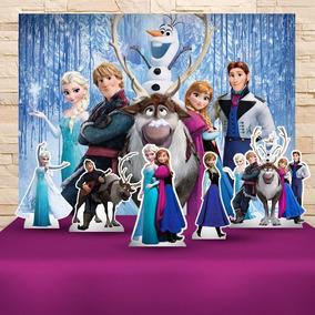 Kit Decoração Festa Infantil Frozen Cenários Kit Prata