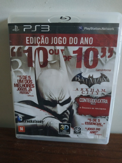 Jogo Ps3 Batman Arkham City Midia Física Impecável