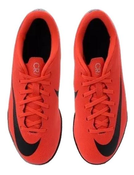 Chuteira Nike Cr7 Vapor 12 Club Gs Ic + Nf