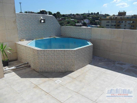 Cobertura Com 2 Dormitórios À Venda, 115 M² Por R$ 335.000 - Cristal - Porto Alegre/rs - Co0011