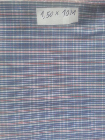 Pieza De Tela De Camisa - Poliester Y Algodón Azul