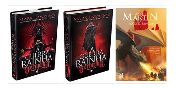 Livro A Guerra Da Rainha Vermelha 1 E 2 + Fogo E Sangue